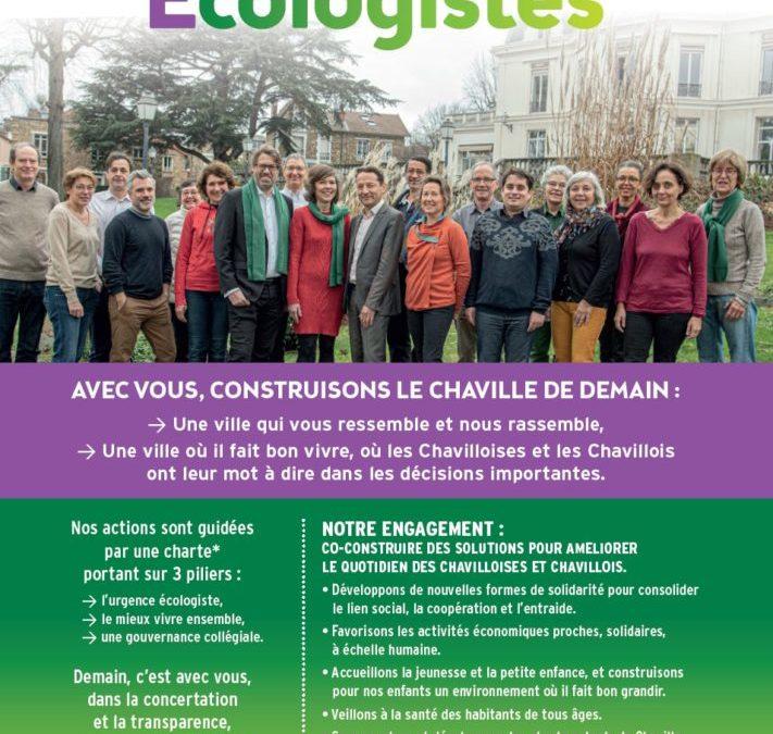 le second tract Chaville Écologistes